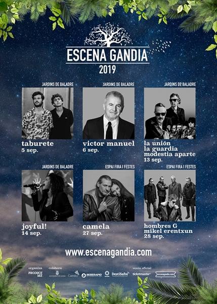 Presentats els concerts d'Escena Gandia 2019