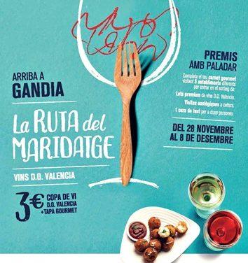 """Els vins de la DO """"Valencia"""" es presenten a Gandia amb la I Ruta del Maridatge"""