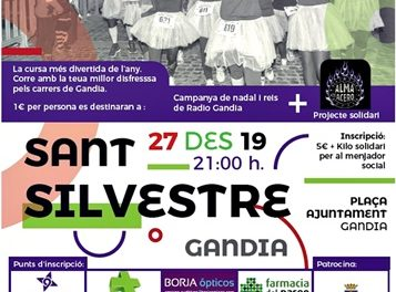 La XIV edició de la San Silvestre de Gandia se celebrarà el 27 de desembre
