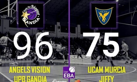 Nuevo triunfo del Gandia Basquet A.Visión  ante en UCAM Murcia en el Pabellón del Polideportivo