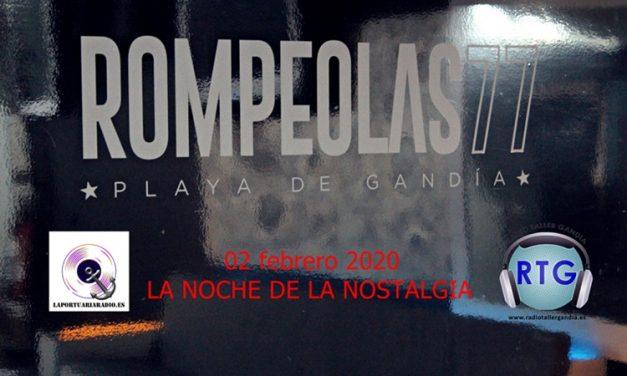 Y LA NOCHE DE LA NOSTALGIA SE HIZO PRESENTE EN ROMPEOLAS – PLAYA DE GANDIA